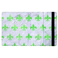 Royal1 White Marble & Green Watercolor Apple Ipad Pro 9 7   Flip Case