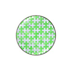 Puzzle1 White Marble & Green Watercolor Hat Clip Ball Marker (10 Pack)