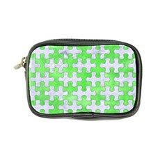 Puzzle1 White Marble & Green Watercolor Coin Purse