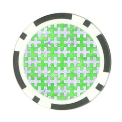 Puzzle1 White Marble & Green Watercolor Poker Chip Card Guard (10 Pack)