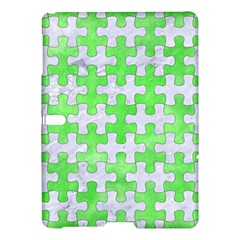 Puzzle1 White Marble & Green Watercolor Samsung Galaxy Tab S (10 5 ) Hardshell Case