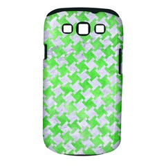 Houndstooth2 White Marble & Green Watercolor Samsung Galaxy S Iii Classic Hardshell Case (pc+silicone)