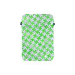 Houndstooth2 White Marble & Green Watercolor Apple Ipad Mini Protective Soft Cases
