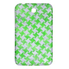 Houndstooth2 White Marble & Green Watercolor Samsung Galaxy Tab 3 (7 ) P3200 Hardshell Case
