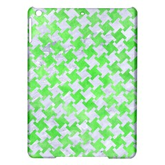 Houndstooth2 White Marble & Green Watercolor Ipad Air Hardshell Cases