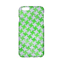 Houndstooth2 White Marble & Green Watercolor Apple Iphone 6/6s Hardshell Case