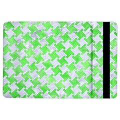 Houndstooth2 White Marble & Green Watercolor Ipad Air 2 Flip