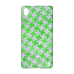 Houndstooth2 White Marble & Green Watercolor Sony