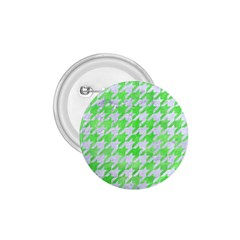 Houndstooth1 White Marble & Green Watercolor 1 75  Buttons