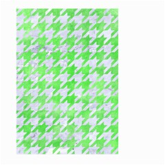 Houndstooth1 White Marble & Green Watercolor Large Garden Flag (two Sides) by trendistuff