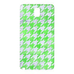 Houndstooth1 White Marble & Green Watercolor Samsung Galaxy Note 3 N9005 Hardshell Back Case