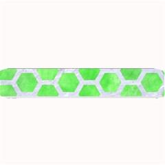 Hexagon2 White Marble & Green Watercolor Small Bar Mats