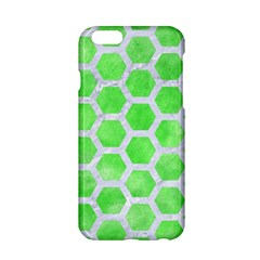 Hexagon2 White Marble & Green Watercolor Apple Iphone 6/6s Hardshell Case