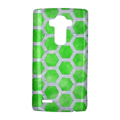 Hexagon2 White Marble & Green Watercolor Lg
