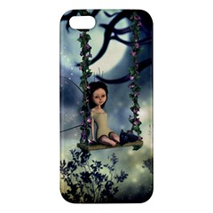 Cute Little Fairy With Kitten On A Swing Iphone 5s/ Se Premium Hardshell Case by FantasyWorld7