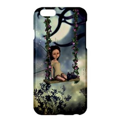 Cute Little Fairy With Kitten On A Swing Apple Iphone 6 Plus/6s Plus Hardshell Case by FantasyWorld7