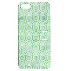 Hexagon1 White Marble & Green Watercolor (r) Apple Iphone 5 Hardshell Case With Stand