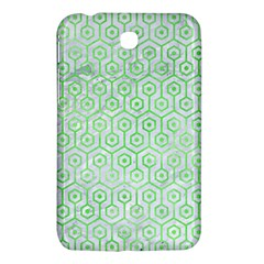 Hexagon1 White Marble & Green Watercolor (r) Samsung Galaxy Tab 3 (7 ) P3200 Hardshell Case