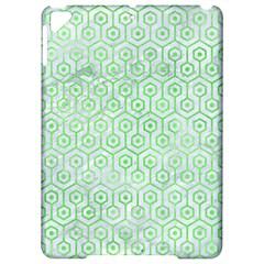 Hexagon1 White Marble & Green Watercolor (r) Apple Ipad Pro 9 7   Hardshell Case