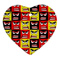 Angry Face Ornament (heart)