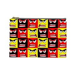 Angry Face Cosmetic Bag (large)