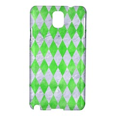 Diamond1 White Marble & Green Watercolor Samsung Galaxy Note 3 N9005 Hardshell Case