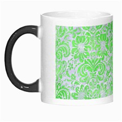 Damask2 White Marble & Green Watercolor (r) Morph Mugs