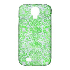Damask2 White Marble & Green Watercolor (r) Samsung Galaxy S4 Classic Hardshell Case (pc+silicone)
