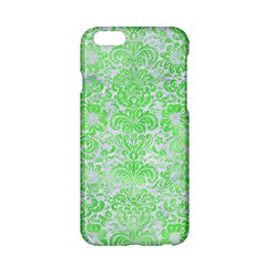 Damask2 White Marble & Green Watercolor (r) Apple Iphone 6/6s Hardshell Case