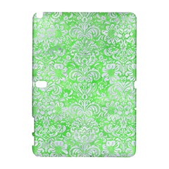 Damask2 White Marble & Green Watercolor Samsung Galaxy Note 10 1 (p600) Hardshell Case