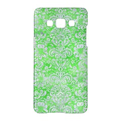 Damask2 White Marble & Green Watercolor Samsung Galaxy A5 Hardshell Case