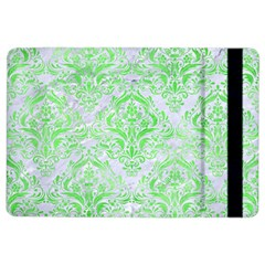 Damask1 White Marble & Green Watercolor (r) Ipad Air 2 Flip