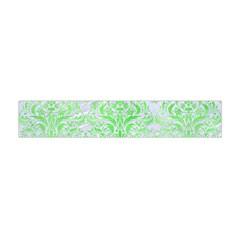 Damask1 White Marble & Green Watercolor (r) Flano Scarf (mini)