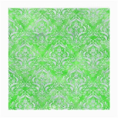 Damask1 White Marble & Green Watercolor Medium Glasses Cloth (2 Side)