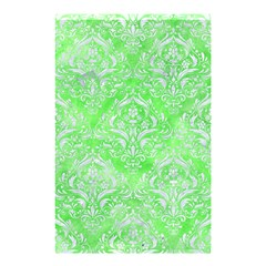 Damask1 White Marble & Green Watercolor Shower Curtain 48  X 72  (small)
