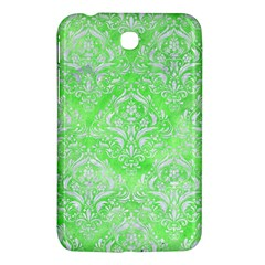 Damask1 White Marble & Green Watercolor Samsung Galaxy Tab 3 (7 ) P3200 Hardshell Case