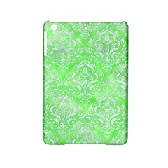 Damask1 White Marble & Green Watercolor Ipad Mini 2 Hardshell Cases