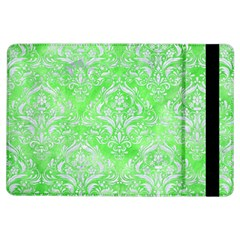 Damask1 White Marble & Green Watercolor Ipad Air Flip