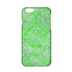 Damask1 White Marble & Green Watercolor Apple Iphone 6/6s Hardshell Case