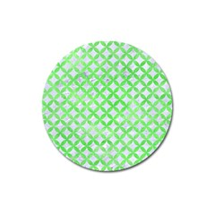 Circles3 White Marble & Green Watercolor (r) Magnet 3  (round)