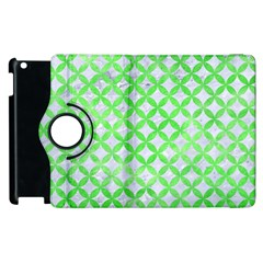 Circles3 White Marble & Green Watercolor (r) Apple Ipad 2 Flip 360 Case
