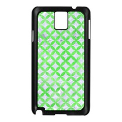 Circles3 White Marble & Green Watercolor (r) Samsung Galaxy Note 3 N9005 Case (black)