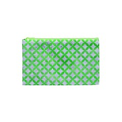 Circles3 White Marble & Green Watercolor (r) Cosmetic Bag (xs)