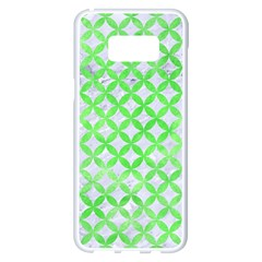 Circles3 White Marble & Green Watercolor (r) Samsung Galaxy S8 Plus White Seamless Case