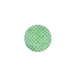Circles3 White Marble & Green Watercolor 1  Mini Buttons