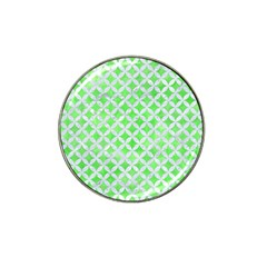 Circles3 White Marble & Green Watercolor Hat Clip Ball Marker (10 Pack)