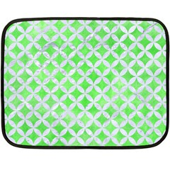 Circles3 White Marble & Green Watercolor Double Sided Fleece Blanket (mini)