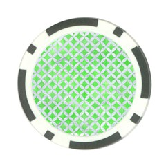 Circles3 White Marble & Green Watercolor Poker Chip Card Guard (10 Pack)