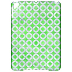 Circles3 White Marble & Green Watercolor Apple Ipad Pro 9 7   Hardshell Case