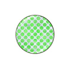 Circles2 White Marble & Green Watercolor (r) Hat Clip Ball Marker (4 Pack)